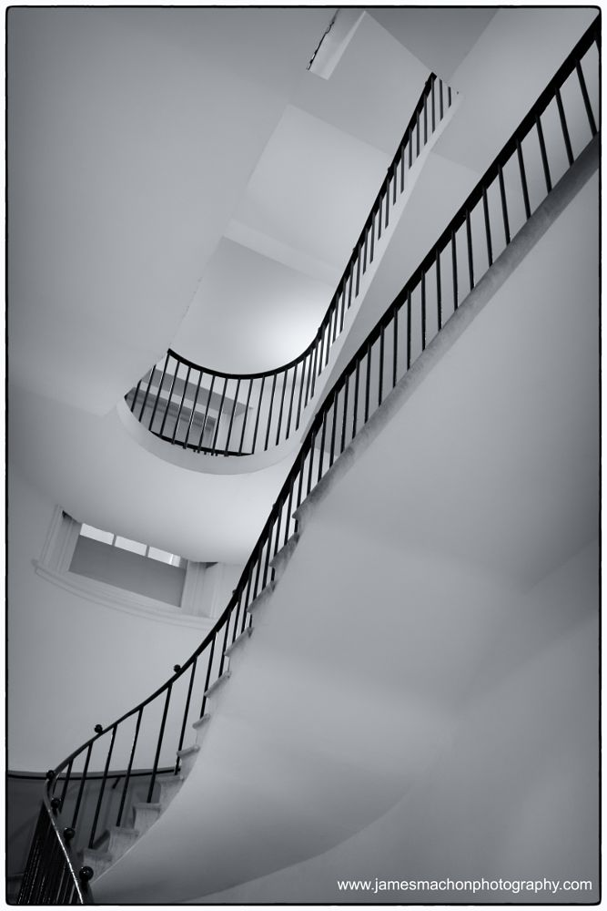 Photo in Black and White #stairs #monochrome #simple