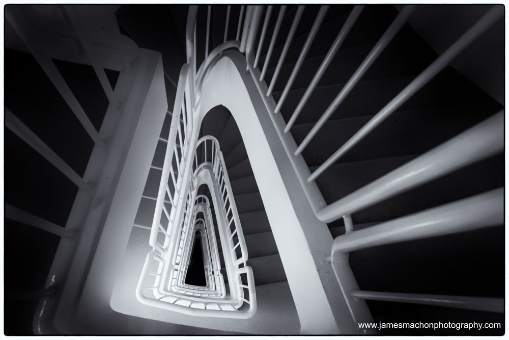 Photo in Black and White #steps #looking down #monochrome