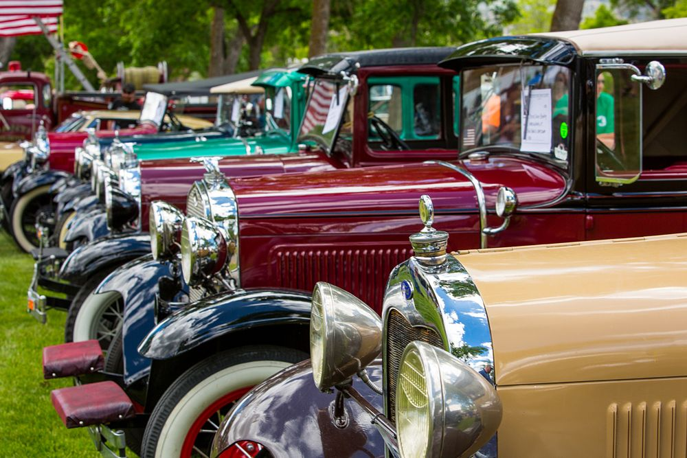 Photo in Vehicle #car show #outside #summer #antiques