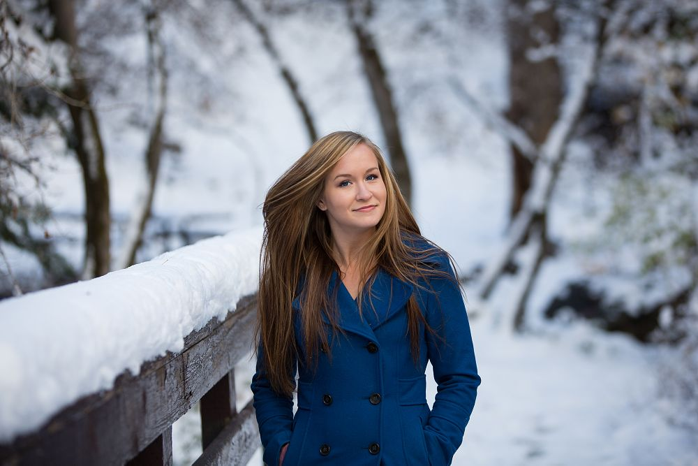 Photo in People #outside #cold #snow #portrait #woman