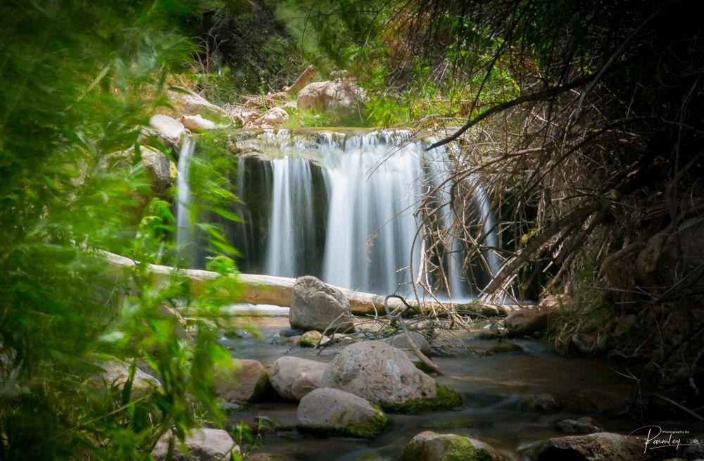 Photo in Landscape #water fall #waterfall #creek #rocks #grand canyon #long exposer #hidden