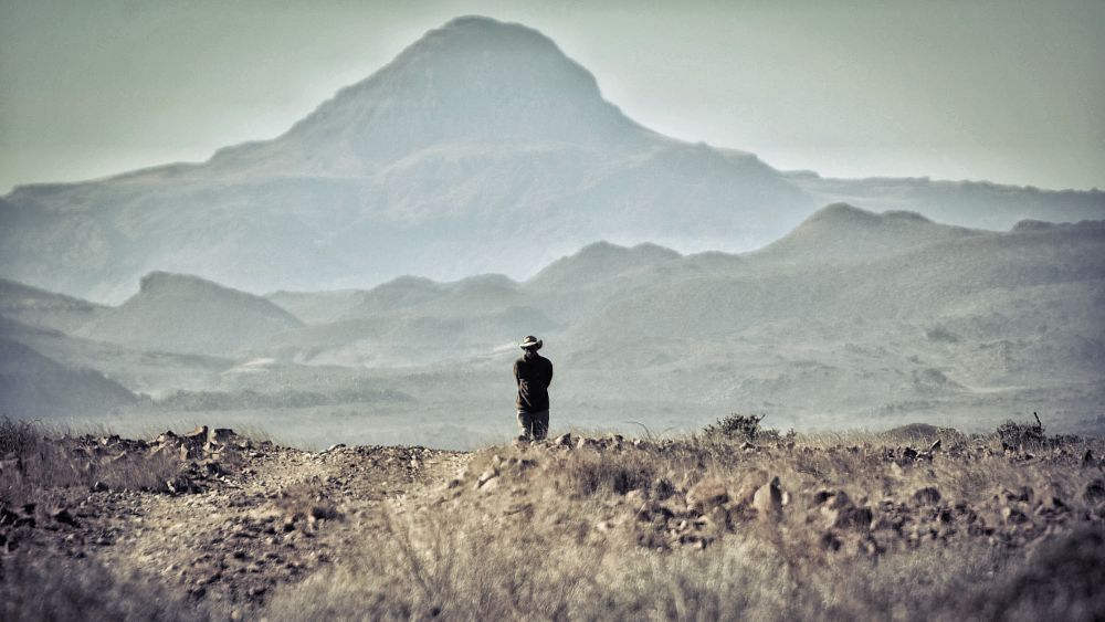 Photo in Travel #kunene #region #brandberg #mountain #nature #reserve #damaraland #solitary #man #black