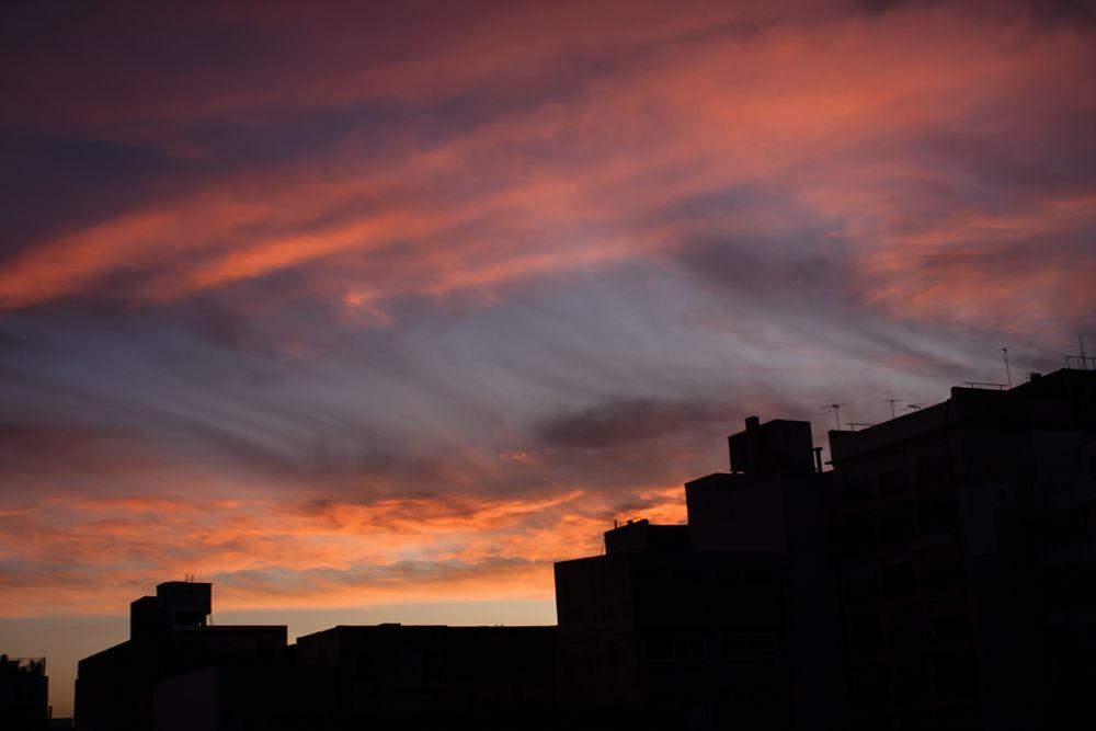 Photo in Cityscape #buenos aires #argentina #sky #cielo #sunshine #atardecer #orange #naranja #shapes #formas