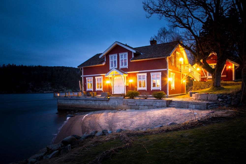 Photo in Landscape #lake #house #night