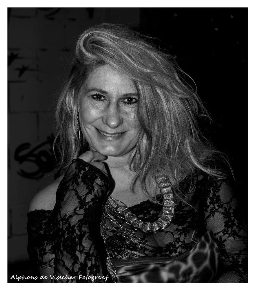 Photo in Portrait #blond #portrait #smile #black & white #female