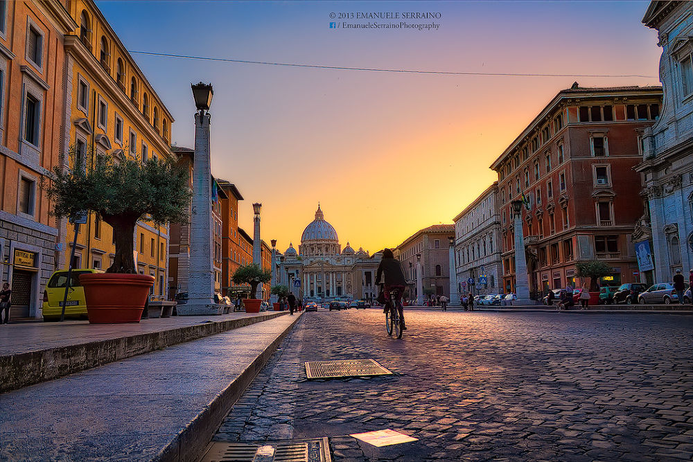 Photo in HDRI #italy #italie #italia #hdr #dri #digital blending #dynamic range #canon #sunset #vatican