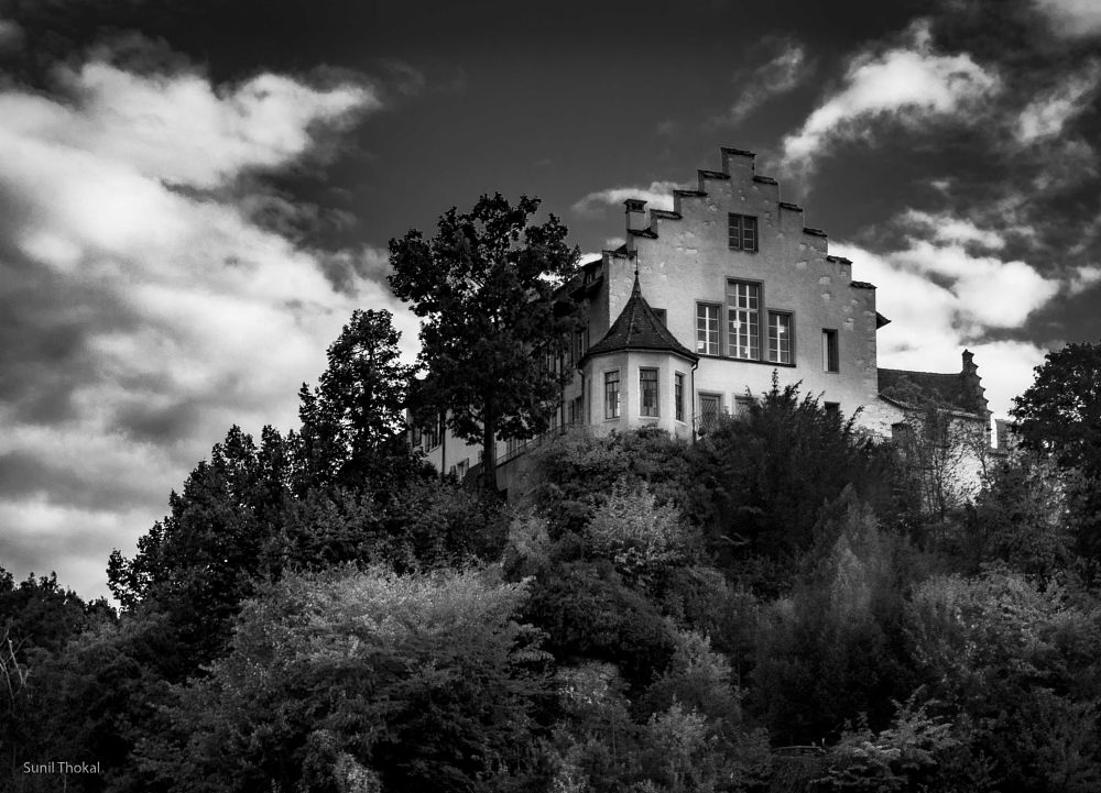 Photo in Architecture #black and white #house