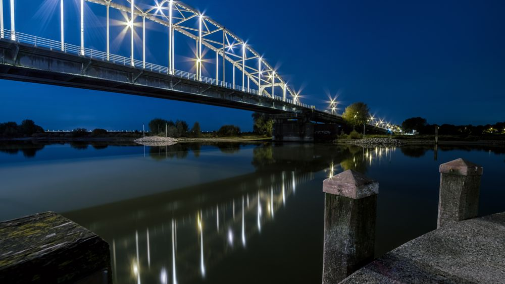 Photo in Cityscape #a bridge too far #deventer #cityscape #long exposure #nightshot #low light