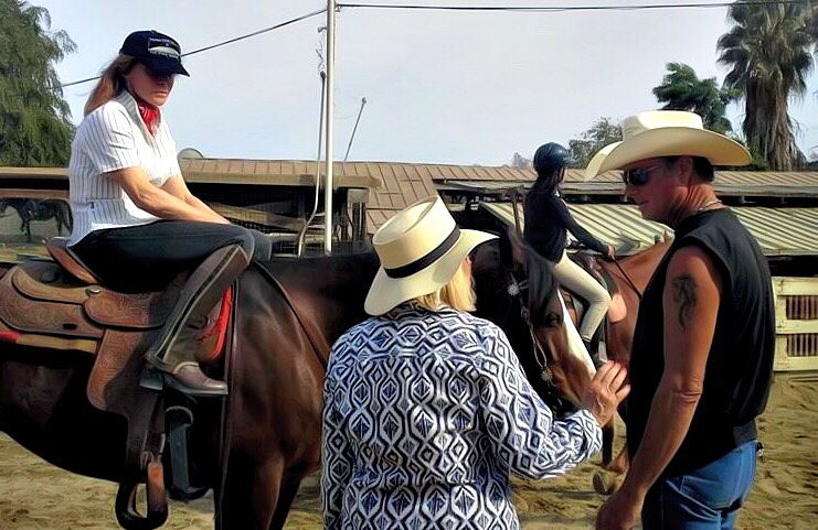 Photo in Celebrities #horses #bill cameron #stefania powers #ipadart #icolorama #digitalpaint