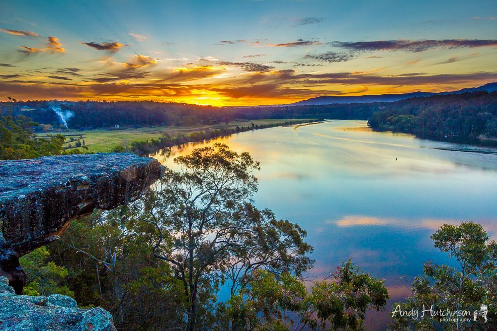 Photo in Landscape #sunset #river #rocks #reflections
