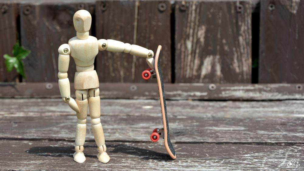 Photo in Still Life #mannequin #doll #skateboard
