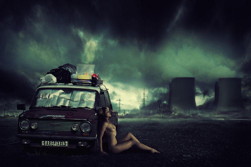 Photo in Nude #nude #composite #post apocalyptic #barepixels