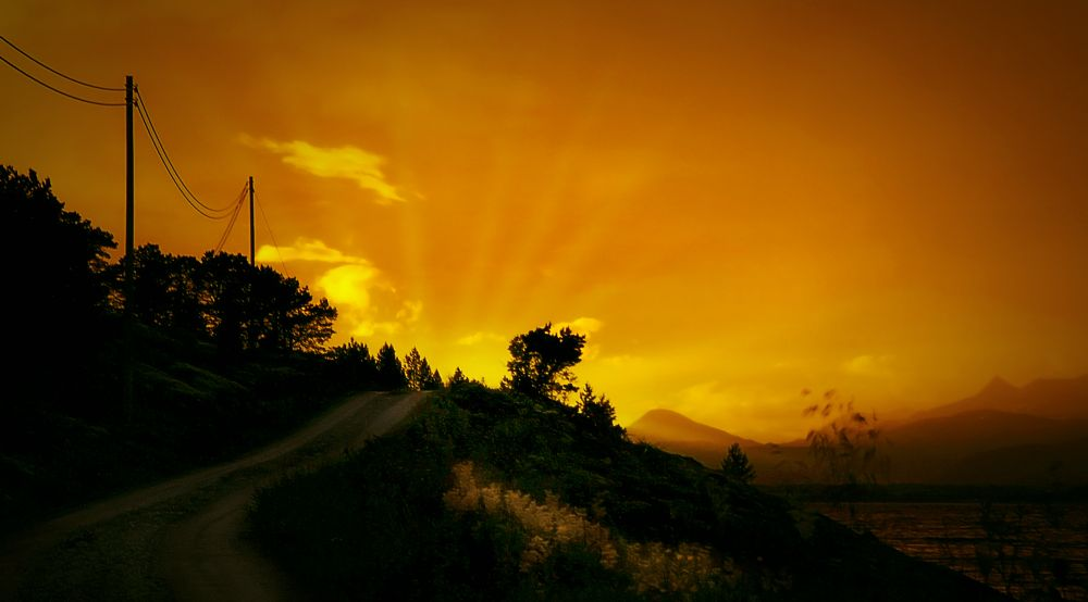 Photo in Nature #porsøy #vargfjord #kjeldebotn #sunset #after the rainbow