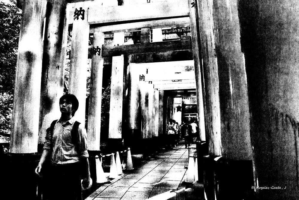 Photo in Black and White #nara