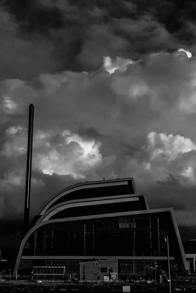 Photo in Black and White #clouds #thunderarchitecture