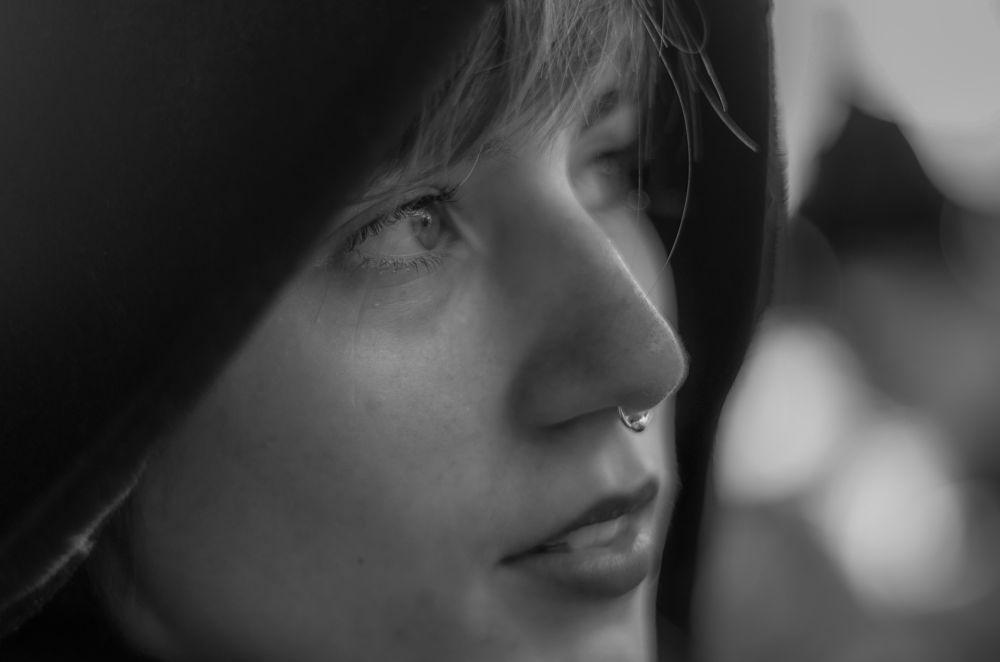Photo in Portrait #noir & blanc #fille #portrait