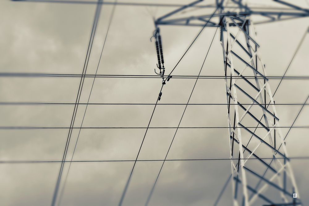 Photo in Abstract #power #lines #abstract