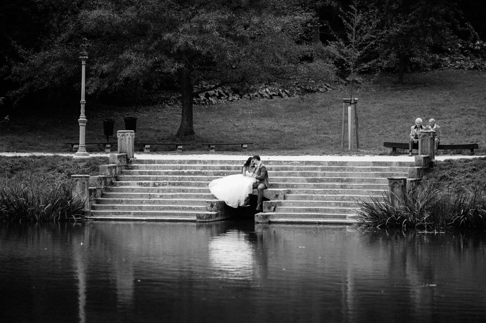 Photo in Wedding #wedding #couple #black and white #emotions #bride #groom