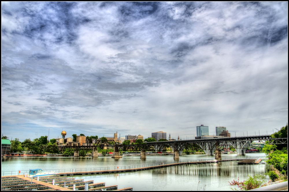 Photo in Cityscape #skyline #knoxville tn #river #downtown
