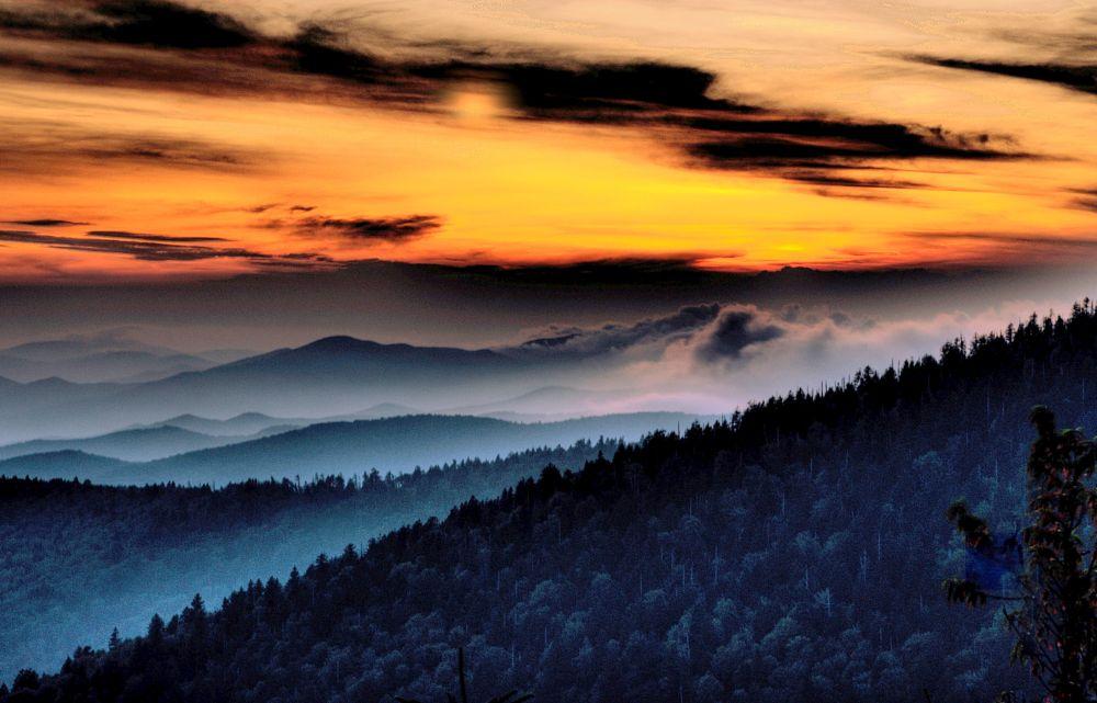 Photo in Landscape #sunset #mountains #beautiful vista
