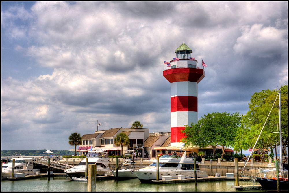 Photo in Travel #hilton head #lighthouse #marina