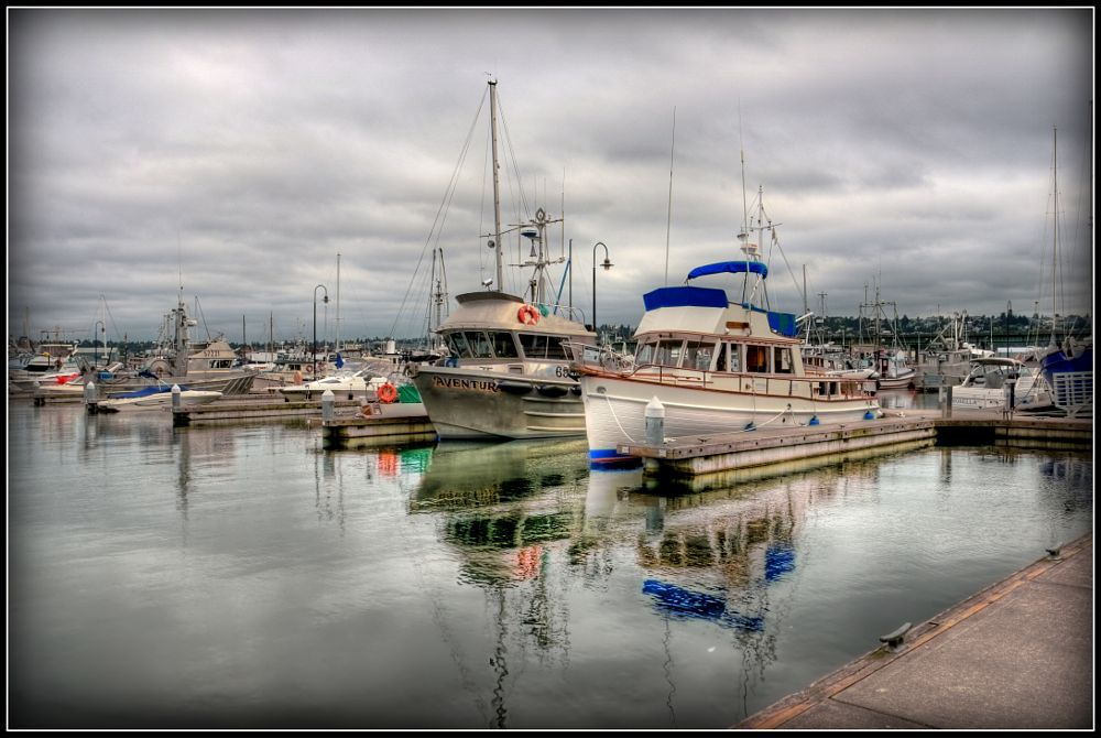 Photo in HDRI #boats #fishing #moored
