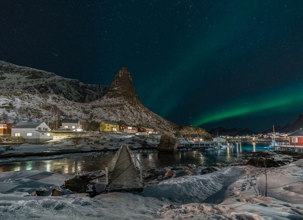 Photo in Landscape #norway #lofoten #winter #aurora #aurora borealis #snow