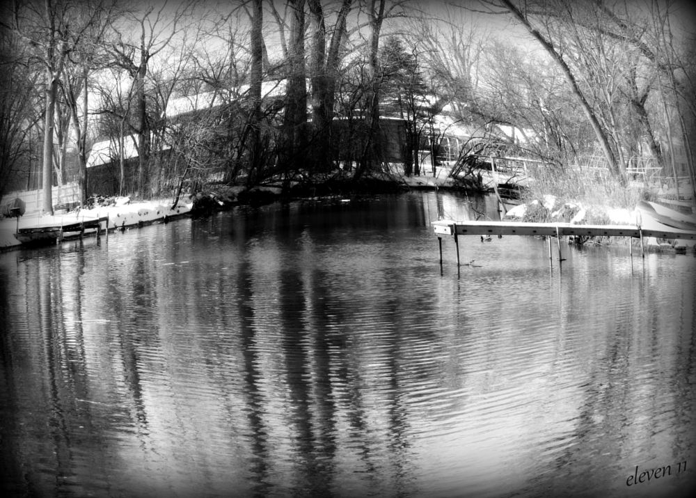 Photo in Abstract #abstract #fish eye #landscape #black & white