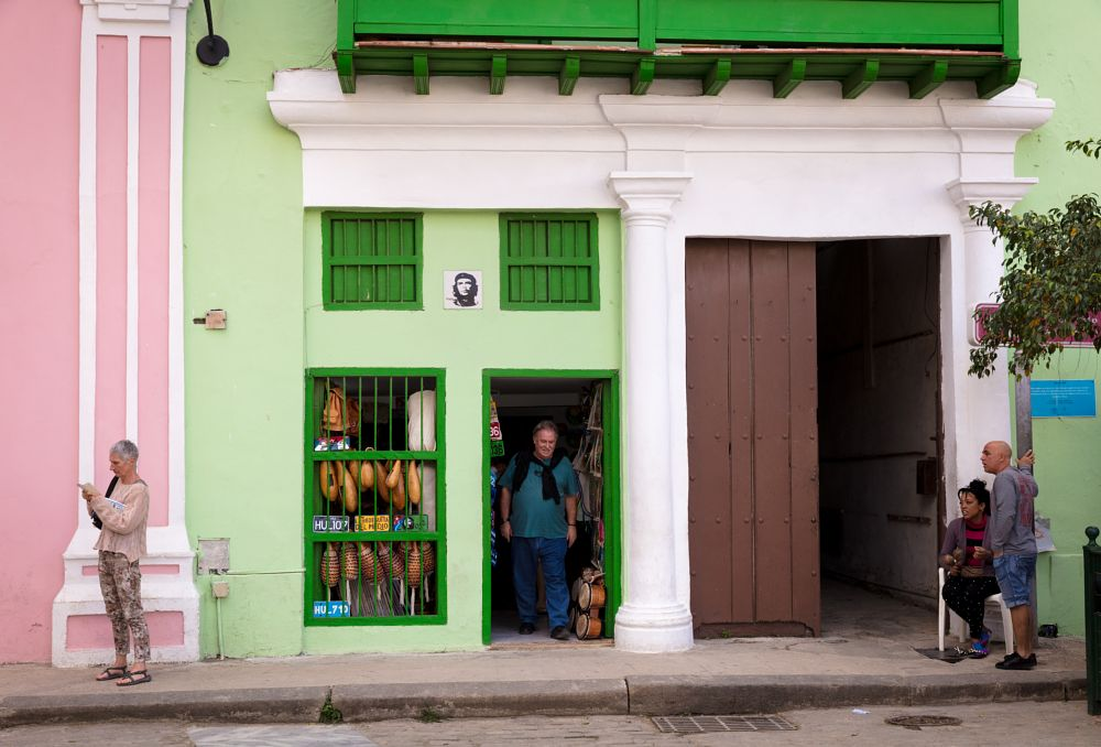 Photo in Street Photography #havana #cuba #street #shop #store #green #people