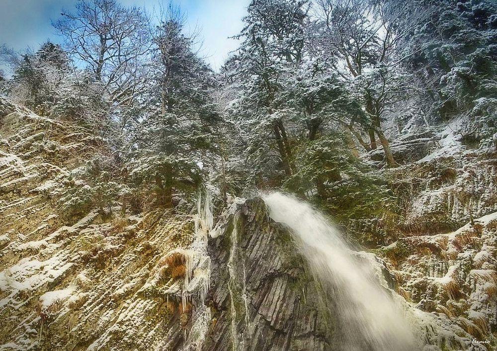Photo in Landscape #cascade #auvergne #winter #le mont-dore