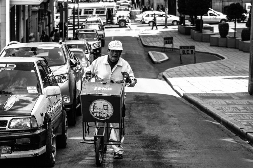 Photo in Street Photography #street #people #seller #icecream #blackandwhite