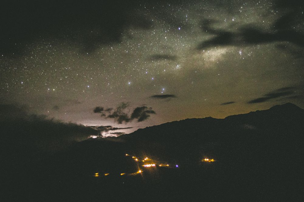 Photo in Astrophotography #village #sky #night #stars