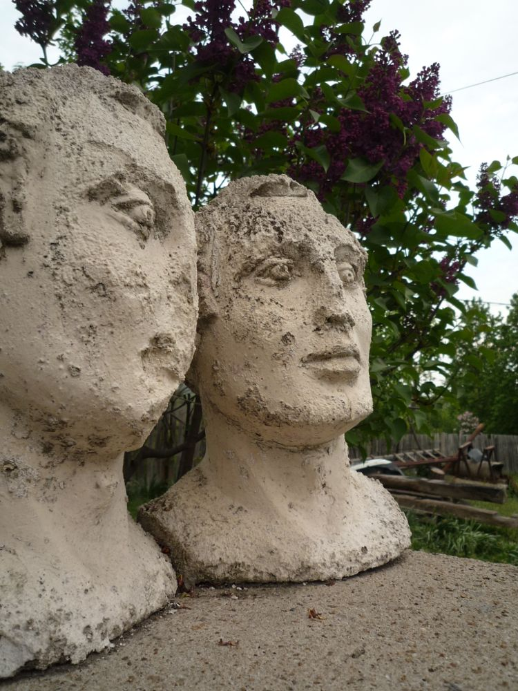 Photo in Random #heads #old #statues