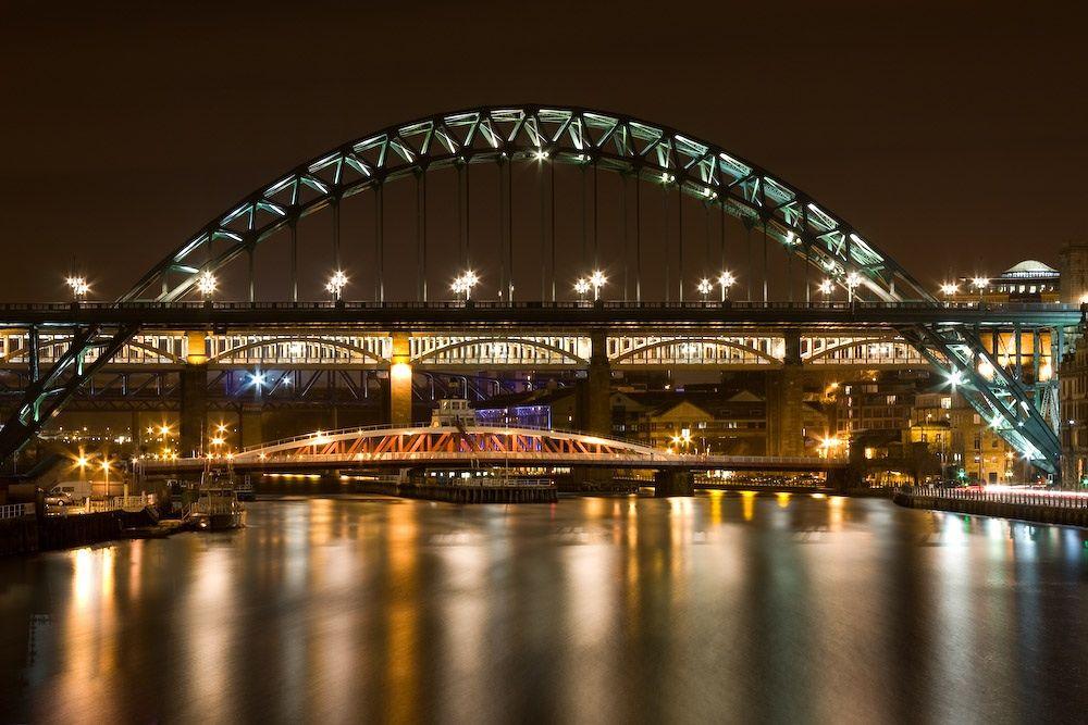 Photo in Architecture #newcastle #tyne bridge #newcastle upon tyne #gateshead #bridge #night