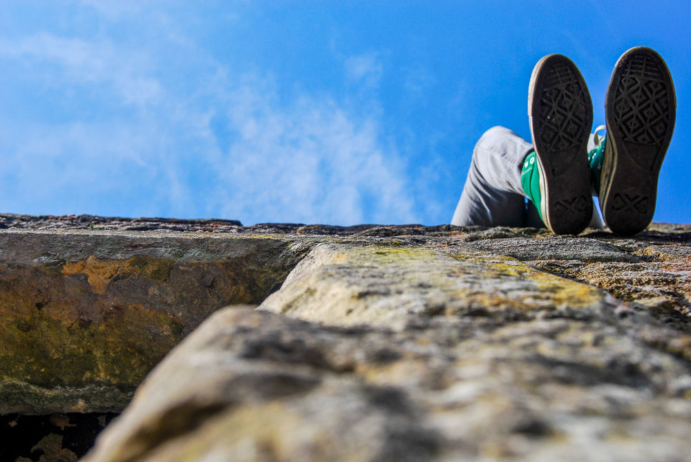 Photo in People #converse #sunny day #castle #blue sky #happy #calm #life