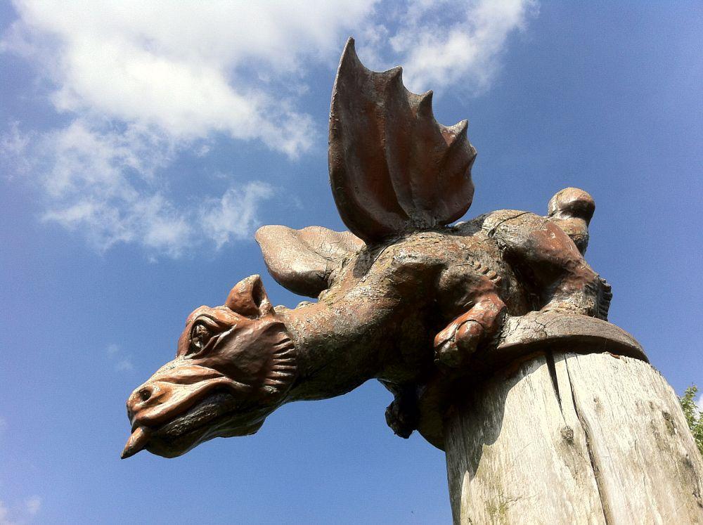 Photo in Fine Art #dragon #art #wood