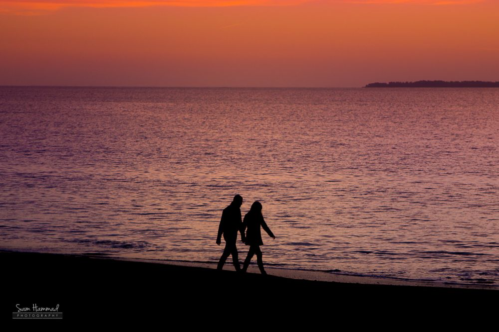Photo in People #beach #couple #love #sunset