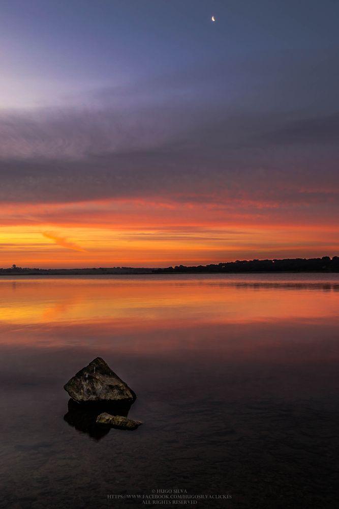 Photo in Landscape #sunrise #moon #alentejo #portugal