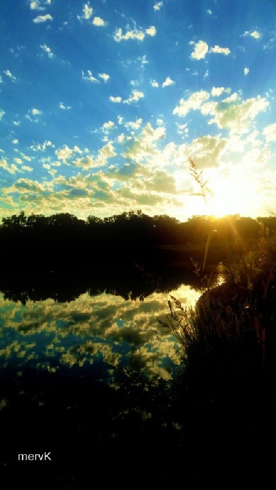 Photo in Nature #water #sunshine #reflections #clouds