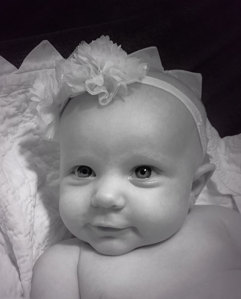 Photo in Black and White #baby #black and white #cheeks