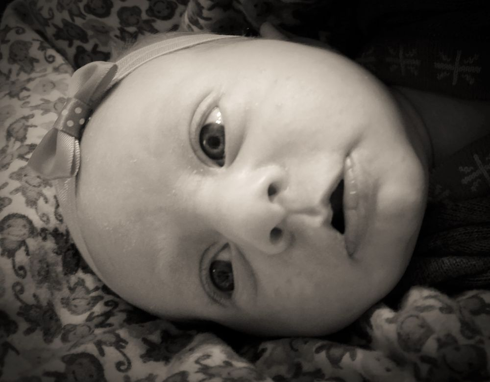 Photo in Black and White #baby #black and white #face