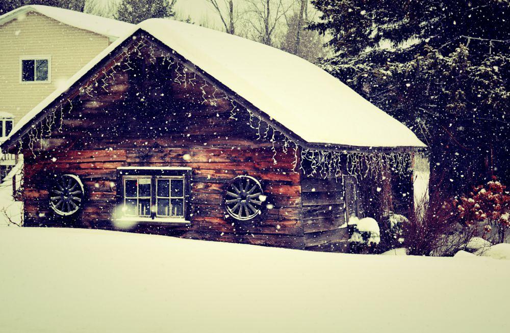 Photo in Random #snow #barn #winter
