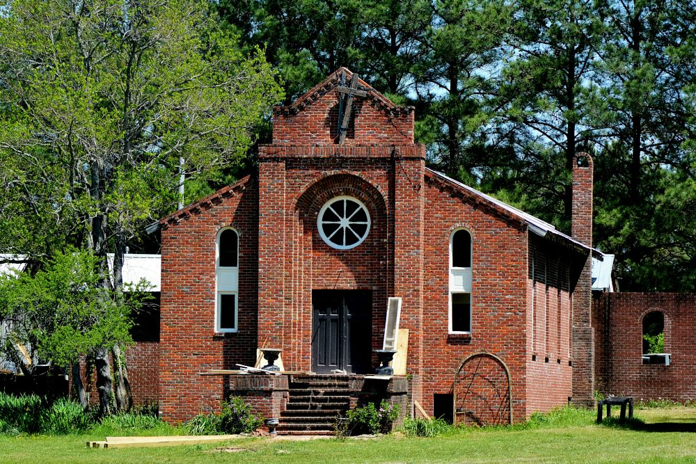 Photo in Random #church #brick #abandoned #old #disrepair