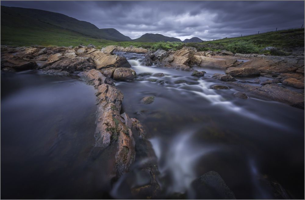 Photo in Landscape #river spey #river #mountains #long exposure #scottish highlands #gods country