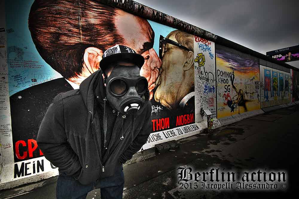Photo in Random #berlin wall #post apocalyptic #gas mask