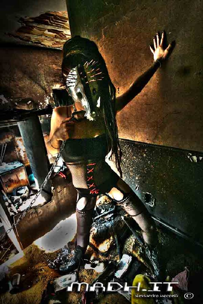 Photo in Random #burning room #gas mask #post apocalyptic