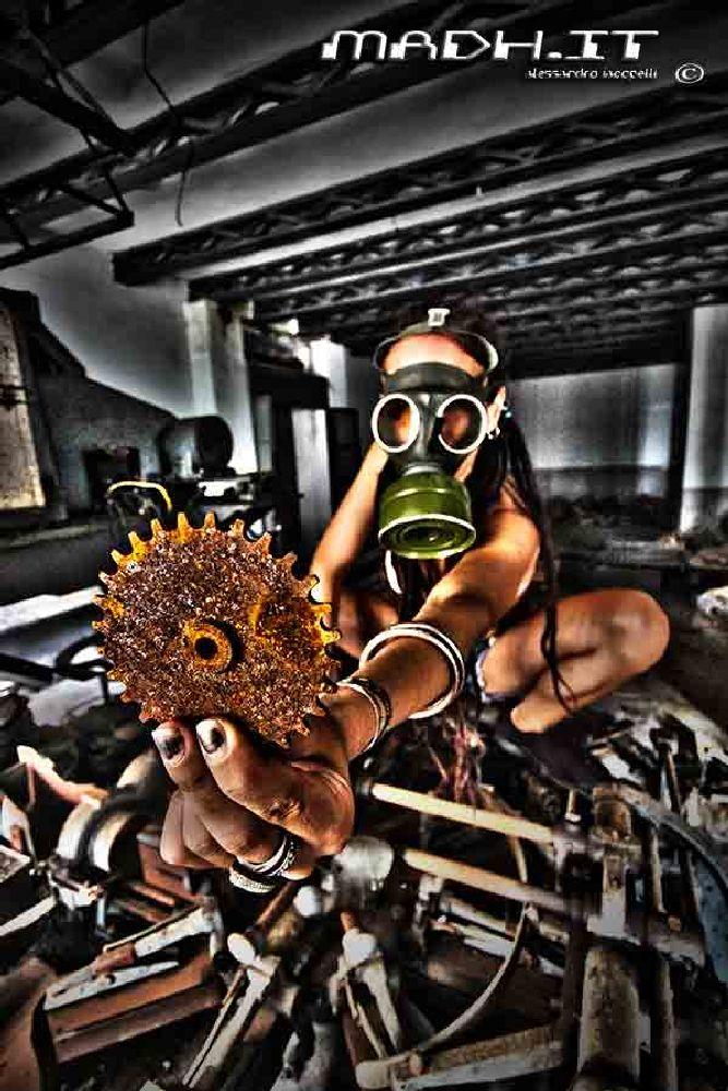 Photo in Random #gas mask #industry #rust