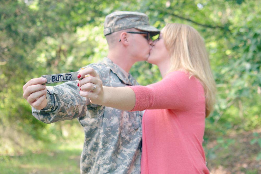 Photo in Family #engagement #military #couple #engaged #wedding