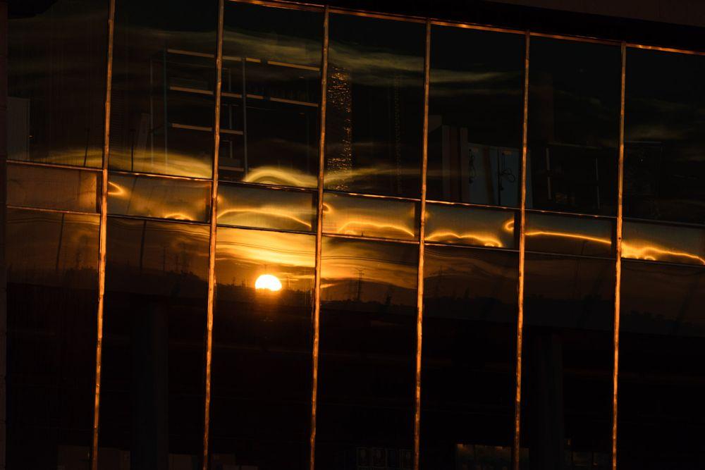 Photo in Urban #sunrise #reflection