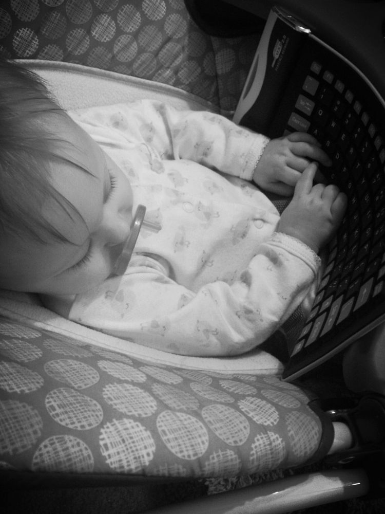 Photo in Black and White #love #baby #sleeping #black #and #white